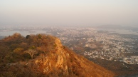 view of the lakes and udaipur city from sajjangarh