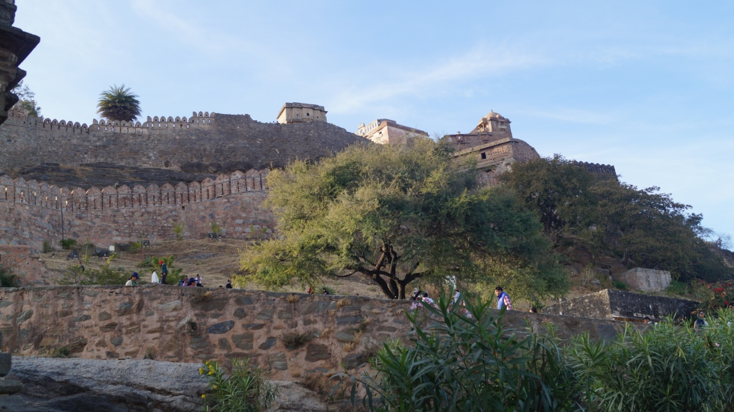 view of the palace from the entrance at kumbhalgarh fort