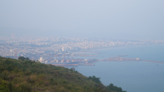 view of vizag from the lighthouse on dolphin's nose