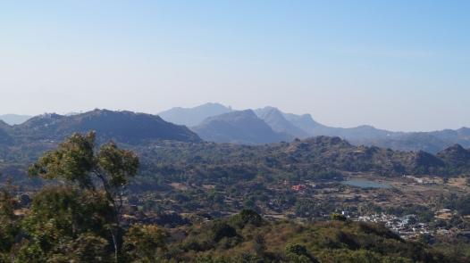 view on the way to guru shikar
