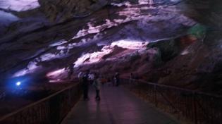walking path inside borra caves