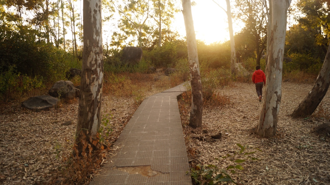 walking path to view point in mt abu