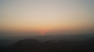 watching the sun set from sajjangarh in udaipur