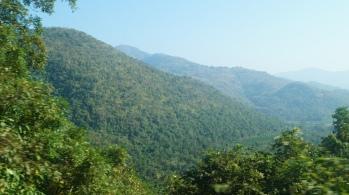 Eastern Ghats View on the train to Araku