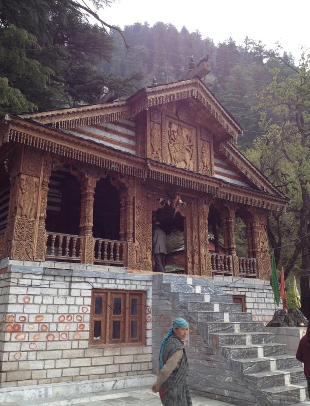 Temple hidden in the hills in Naggar