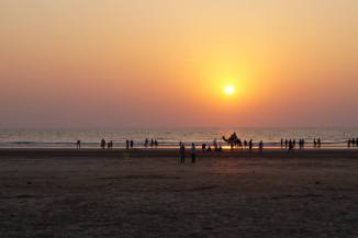 Ganapatipule beach at sunset