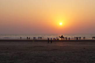 Ganapatipule beach at sunset