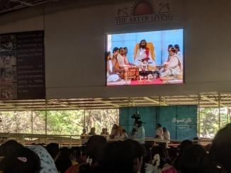 Puja at Yagnashala Mantap AOL Ashram