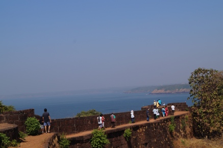 Walking on the Fort Wall at Jaigad