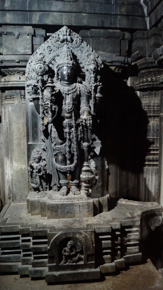 Another Keshava Statue (right side) inside the temple at Somanathpur