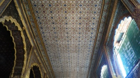 Ceiling at Summer Palace In Srirangapatna