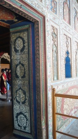 Decorated door summer palace Srirangapatna