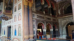 Decorated walls Summer palace srirangapatna