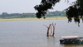 Docked boats at Kabini River Lodge