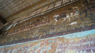 Floor to ceiling murals at summer palace in Srirangapatna