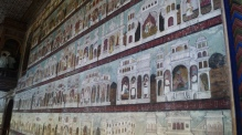 Floor to ceiling murals at summer palance Srirangapatna
