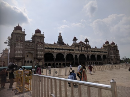 Front view of Mysore Palace