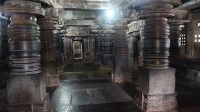 Inside the Keshava temple in Somanathpur