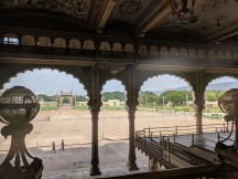 King's view as he looked outside 1st Floor Mysore Palace