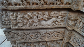 Scenes from Krishna's childhood at Somanathpur