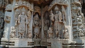 Sculptures at temple in Somanathpur