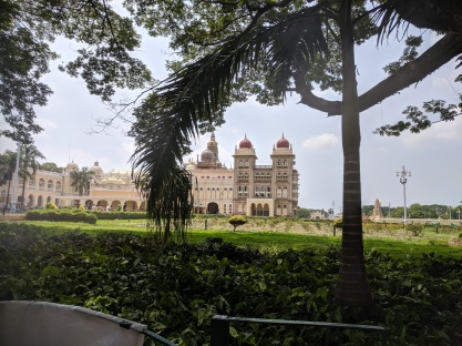 Side view of Mysore Palace