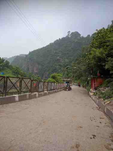 The Shiv Khori Trail becomes steep