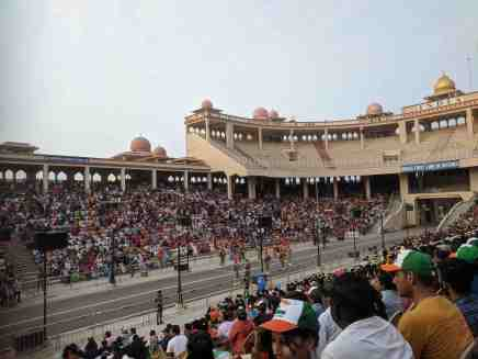 Audience on the Indian side at Attari Wagah
