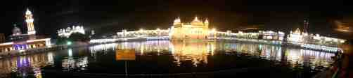 Golden Temple Night View Panaroma