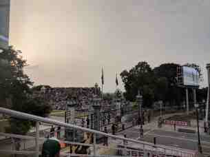 View of Audience Across the border at Attari Wagah