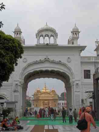 View of Golden Temple as you re-enter from Langar Hall